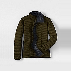 Lands' End - Brown men's lightweight down jacket