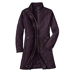Lands' End - Purple women's quilted primaloft coat