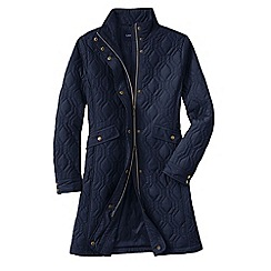 Lands' End - Blue women's quilted primaloft coat