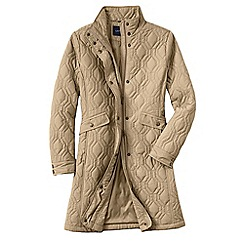 Lands' End - Beige women's quilted primaloft coat