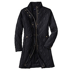 Lands' End - Black women's quilted primaloft coat