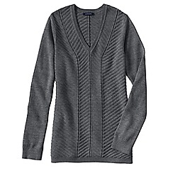 Lands' End - Grey women's chevron v-neck tunic
