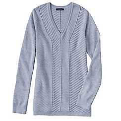 Lands' End - Blue petite chevron v-neck tunic