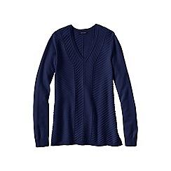 Lands' End - Blue chevron v-neck tunic