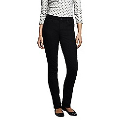 Lands' End - Black petite mid rise black slim leg jeans