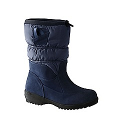 Lands' End - Blue women's pull-on winter boots