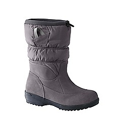 Lands' End - Grey women's pull-on winter boots