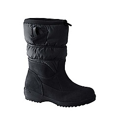 Lands' End - Black women's pull-on winter boots