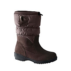 Lands' End - Brown women's pull-on winter boots