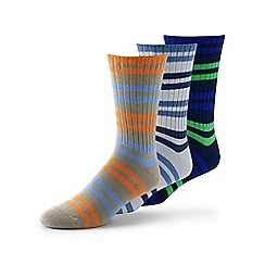 Lands' End - Multi cotton-rich socks - 3-pack