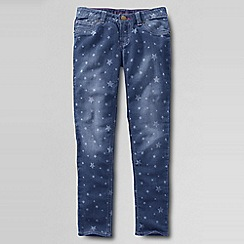 Lands' End - Blue girls' indigo! patterned jeggings