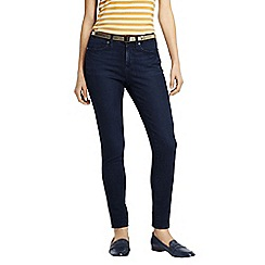 Lands' End - Blue women's mid rise stretch skinny jeans