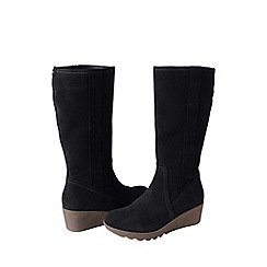 Lands' End - Black women's chalet suede boots