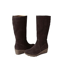 Lands' End - Brown women's chalet suede boots