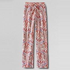 Lands' End - Pink women's regular jersey patterned drawstring pyjama bottoms