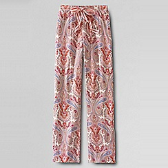 Lands' End - Pink women's petite jersey patterned drawstring pyjama bottoms