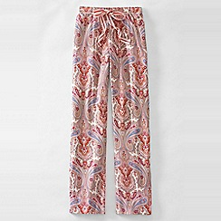 Lands' End - Pink women's jersey patterned drawstring pyjama bottoms