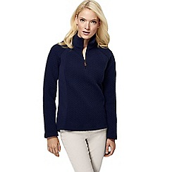 Lands' End - Blue women's fleece herringbone half-zip
