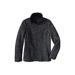 Lands' End - Black melange boiled wool jacket