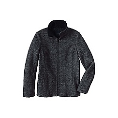 Lands' End - Black melange boiled wool jacket