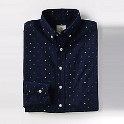 Lands' End - Blue little boys' dot pattern poplin shirt