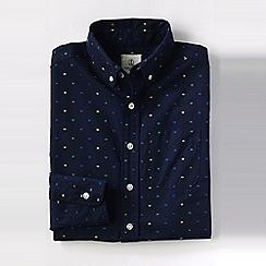 Lands' End - Blue little boys' dot pattern poplin shirt