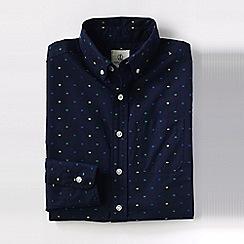 Lands' End - Blue boys' dot pattern poplin shirt