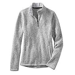 Lands' End - Grey women's everyday sweater fleece 200 jacket
