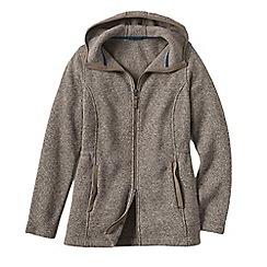 Lands' End - Grey everyday sweater fleece 200 parka