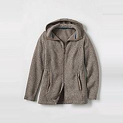 Lands' End - Grey women's plus everyday sweater fleece 200 parka