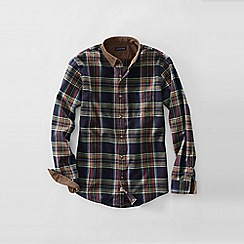 Lands' End - Blue men's corduroy collar flannel shirt