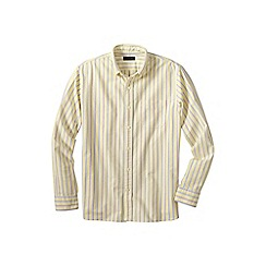 Lands' End - Yellow traditional fit patterned sail rigger oxford shirt