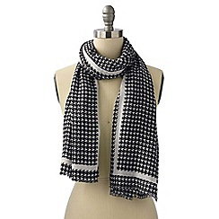 Lands' End - Black houndstooth scarf