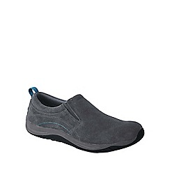 Lands' End - Grey women's wide everyday mocs light