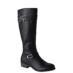 Lands' End - Black women's wide blakeley riding boots
