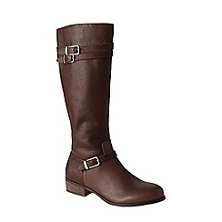 Lands' End - Brown women's wide blakeley riding boots