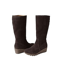 Lands' End - Brown wide chalet suede boots