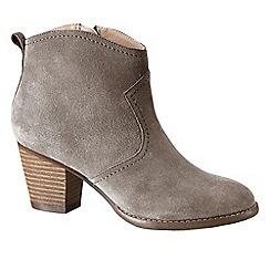 Lands' End - Brown women's wide harris ankle boots