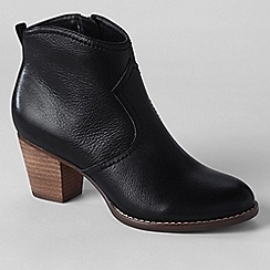 Lands' End - Black women's wide harris ankle boots