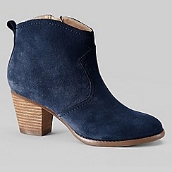 Lands' End - Blue women's wide harris ankle boots