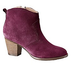 Lands' End - Purple women's wide harris ankle boots