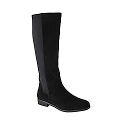 Lands' End - Black women's suede/stretch boots
