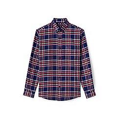 Lands' End - Red slim fit patterned flannel shirt