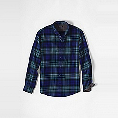 Lands' End - Blue men's slim fit patterned flannel shirt