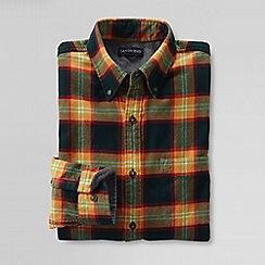 Lands' End - Brown men's slim fit patterned flannel shirt