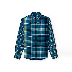 Lands' End - Green traditional fit patterned flannel shirt
