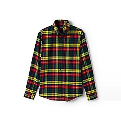 Lands' End - Multicoloured traditional fit patterned flannel shirt