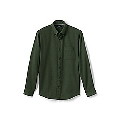 Lands' End - Green traditional fit flannel shirt
