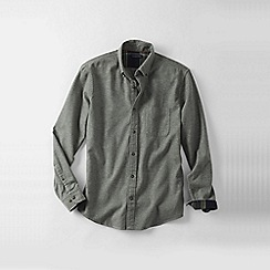 Lands' End - Grey traditional fit flannel shirt