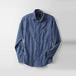 Lands' End - Blue traditional fit flannel shirt